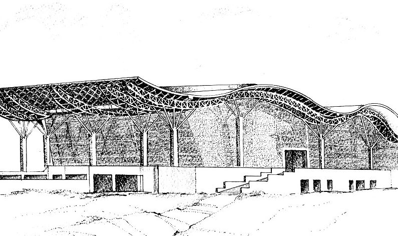infosys cafeteria chandigarh IT park building sketch shilpa ahuja