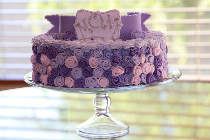 Cake Birthday Cake Sweet Beautiful Pink Purple