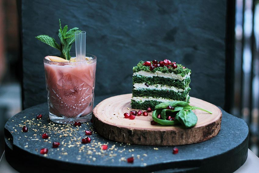 Drink Food Green Cake Sweets Dessert Chopping