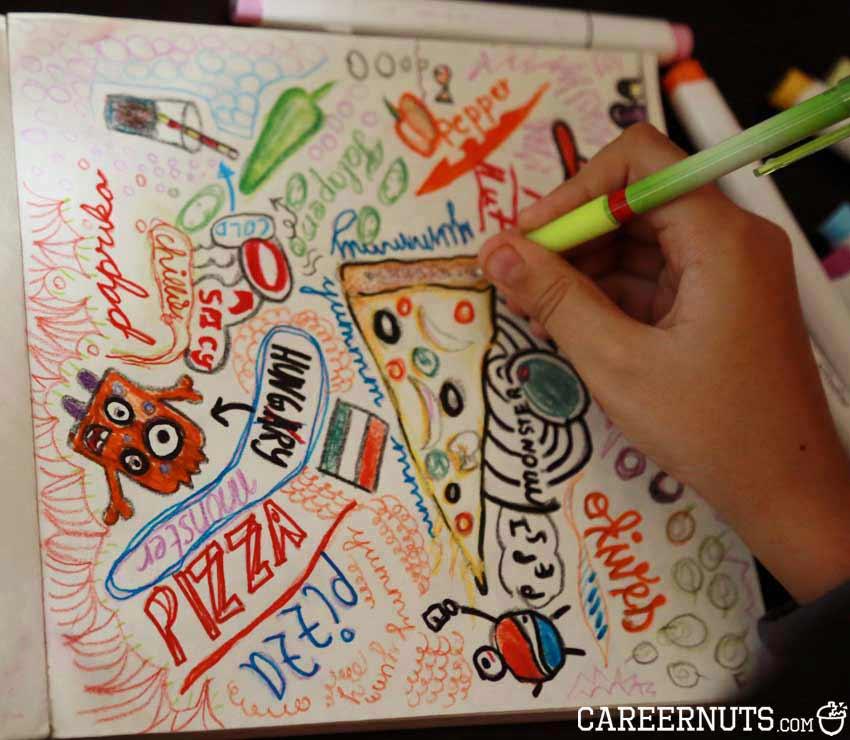 pizza doodle hobby fun ideas